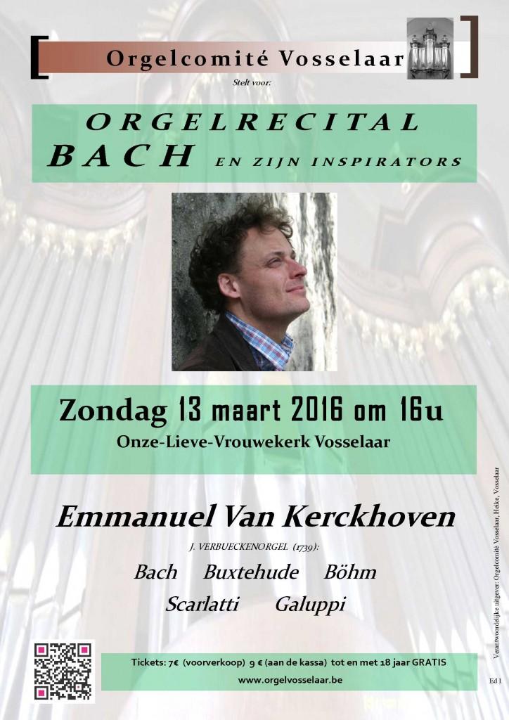 Bach door Emmanuel Van Kerckhoven