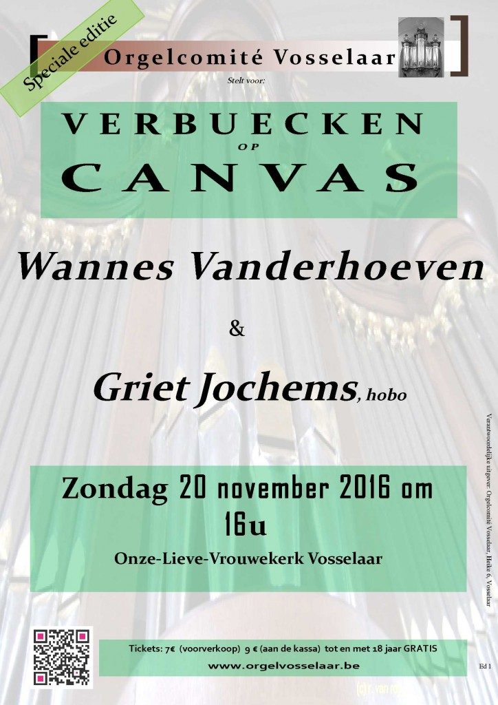 Concert affiche Verbuecken op canvas