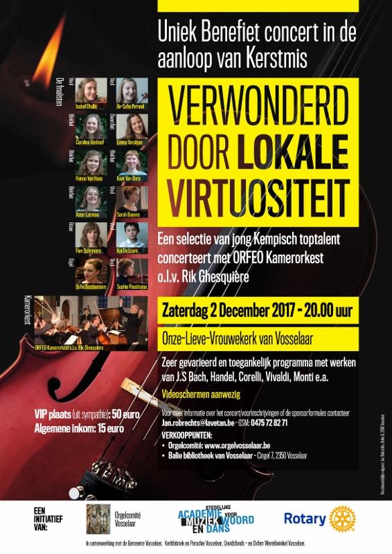 Affiche Concert met 12 jonge toptalenten